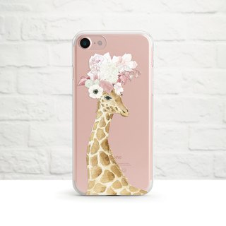Pretty Giraffe, Clear Soft Case, Clear Soft Case, iPhone X, Samsung