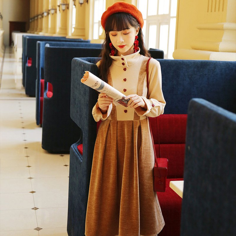 Anne Chen Yang suit autumn and winter fairy sweet sweet gentle waist temperament French retro skirt female 2019 new 9906