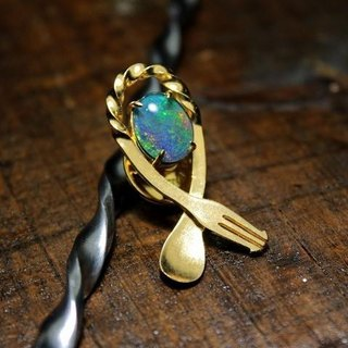 Bartenders Bar Spoon Broach - Triplet Opal
