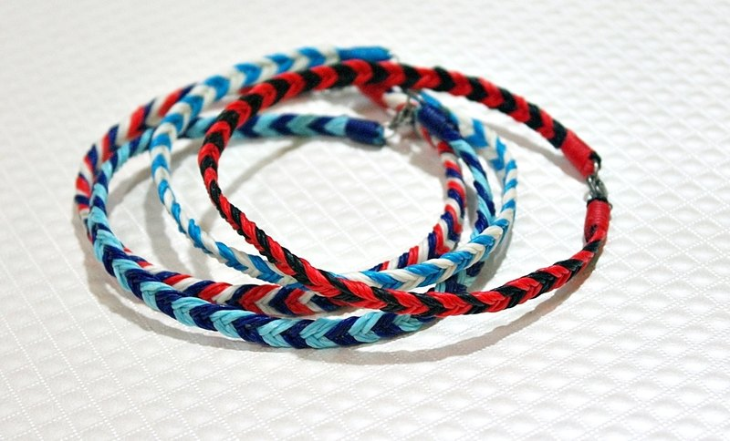 Hand-woven silk wax thread section <fish tail> ((anklet section)) // Color can be selected //