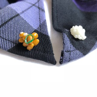 Japanese resin mini clay hand collar or cuffs pin warm package meal a natto