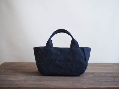 [MILITARY TWILL] Round Tote S with lid (Navy)
