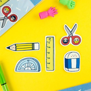 Water Proof Stickers 5pcs in 1 Pack - Stationery