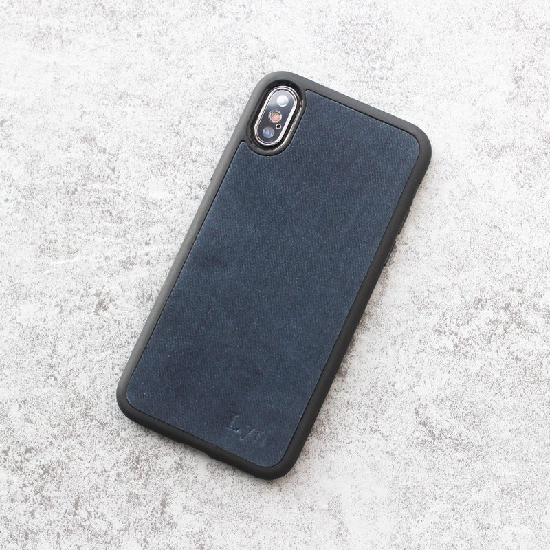 Iphone11 pro xs max xr X 7 8 plus leather tannin blue phone case