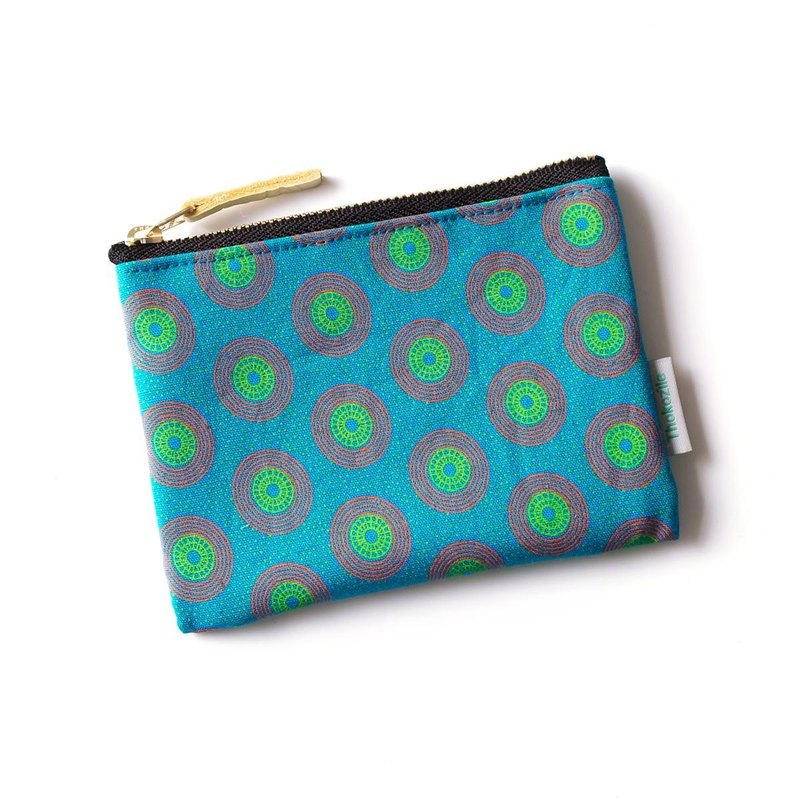 BLUE VINYL MINI POUCH