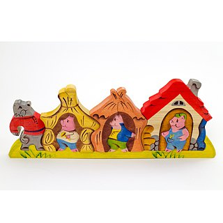 Goody Bag - Russian Story Building Blocks - Beech Fairy - 3D Puzzle Series: Three Little Pigs