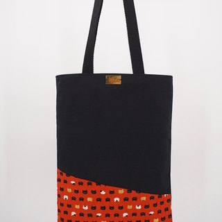 Tote Bag in Cats on Rust