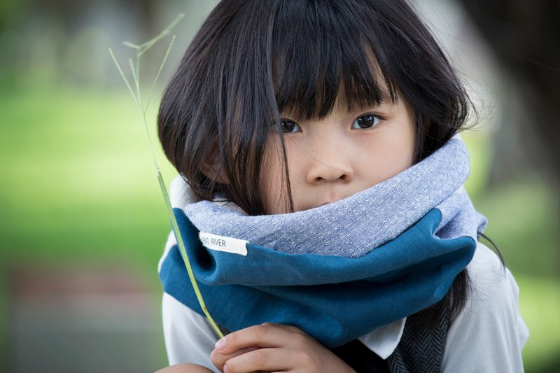 Blue /  Child Size / Cod Winter Neck Warmer / Scarf