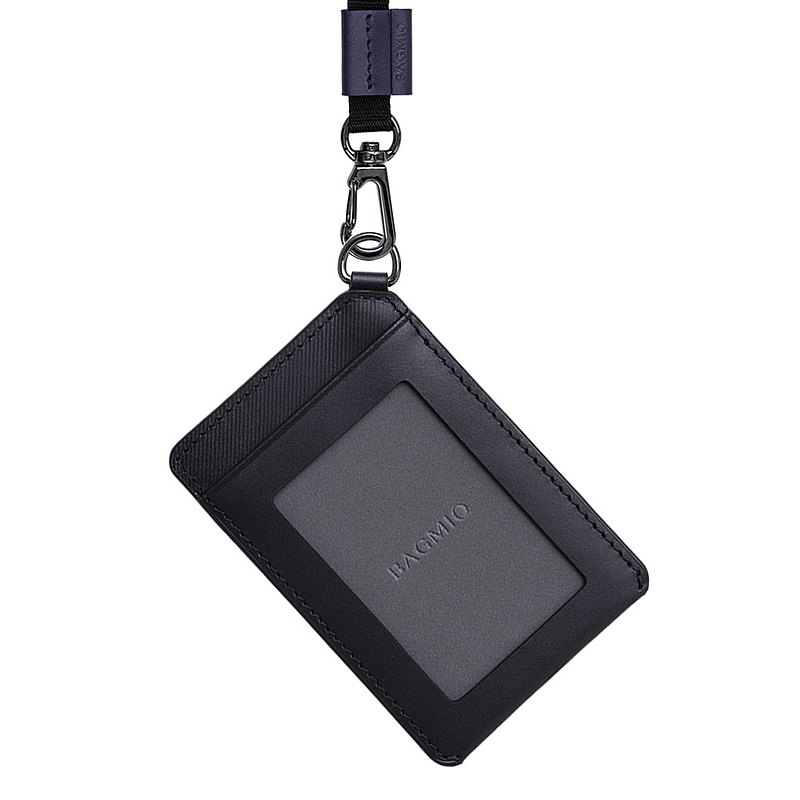 Vigor Cowhide Straight ID Case-Ink Black (including Ribbon)