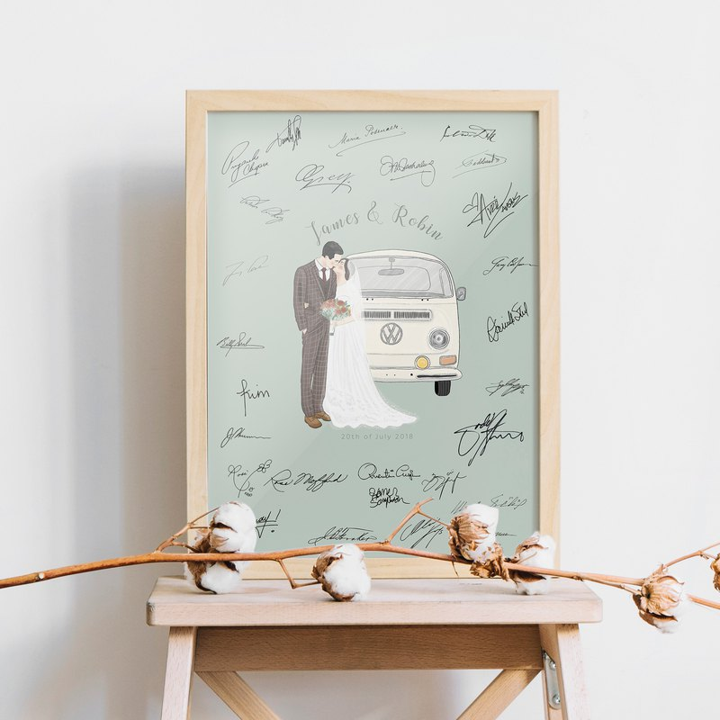 Wedding Guest Book Alternative | Wedding Guest Signature Board | Custom Wedding