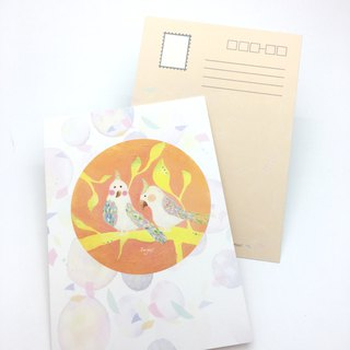 [Two sun bird friends] postcards