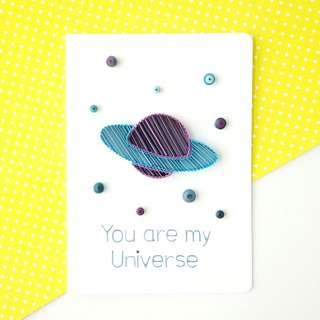 Hand made decorative cards- You are my universe