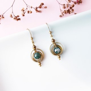 explore. Water agate brass earrings sister and girlfriend gifts