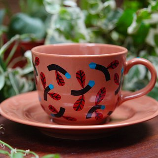 Swing Flower Tea Cup (Brown)