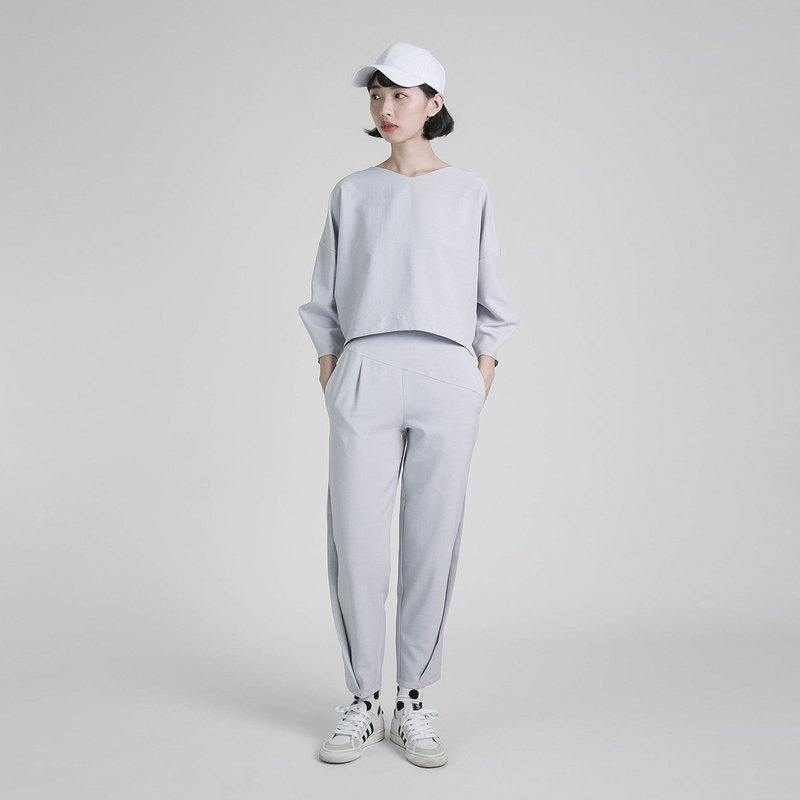 Roaming roaming nine points modeling pants _8AF201_ marble gray