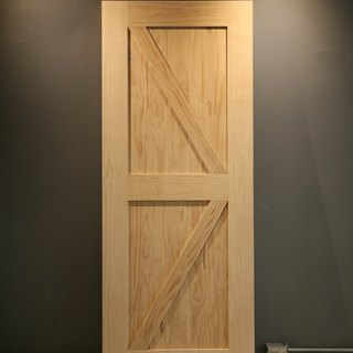 Country industrial wind barn door (double sided) _ pine slash door / sliding door / cabinet door / room door