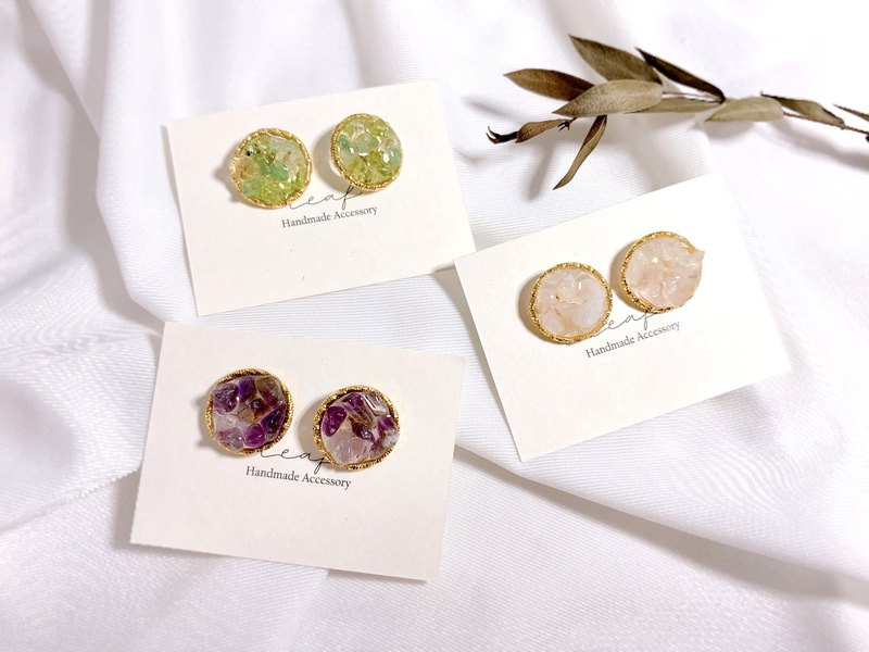 Natural stone crystal handmade earrings