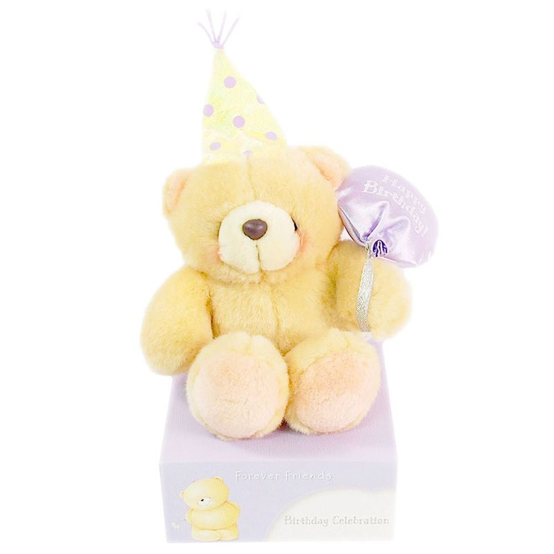 4.5吋/Happy Birthday Plush Bear [Hallmark-ForeverFriends Birthday Series]