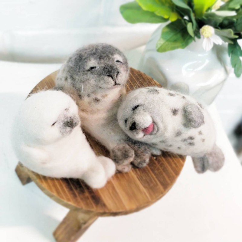 【ワークショップ】Small seal wool felt hand-made course experience activities