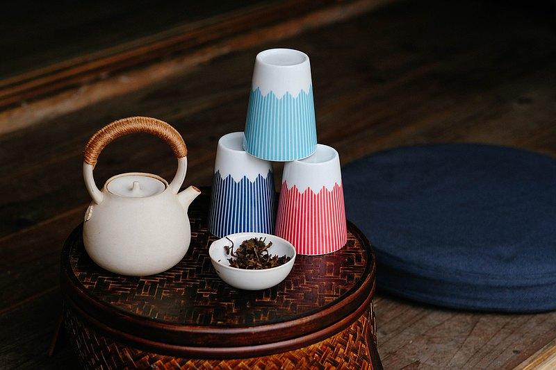 富士山圖案茶杯 (HL) 淡藍色