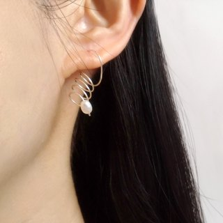 E030-spin-sterling silver pearl earrings