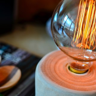 Concentric - (handmade with Edison bulb & lamp holder & dimmable)