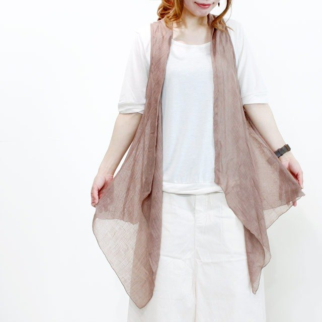 palette soft gauze long gillet