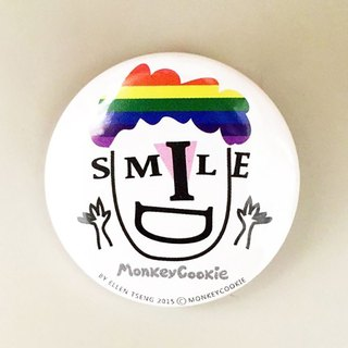 Badge rainbow keeps smiling