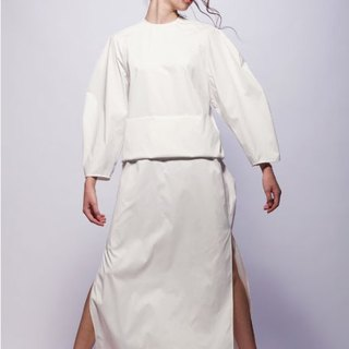 16 spring and summer sample sale 16SS white big fold dress