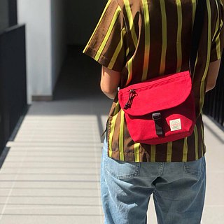 New Red Basic Messenger Canvas Bag / everyday bag / travel /weekend