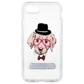Glasses puppy hide magnet bracket iPhone 8 7 6 plus phone case phone case case
