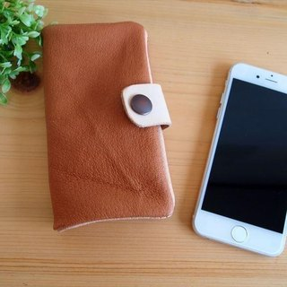 [Custom-made classic camel] pig leather soft Sumahokesu [various models] leather cover [iphone6, xperia, galaxy]