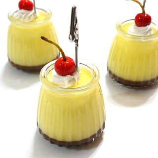 Sleek egg pudding note paper paper town | simulation dessert stationery
