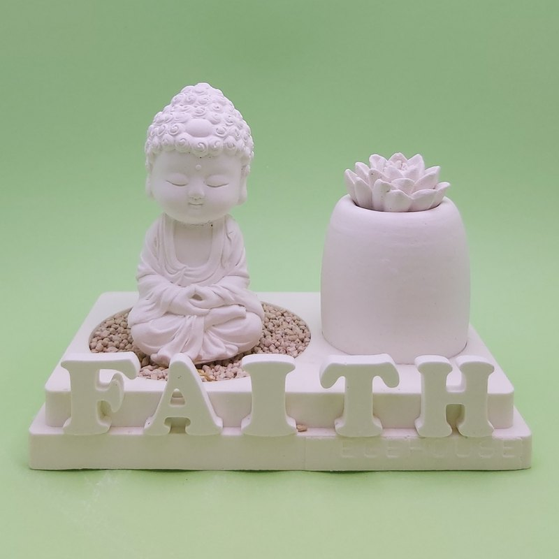 Miniature Small meditation Buddha B1801 incense  holder, EO container, 2 layers