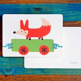 mumu-purpose card / postcard - little fox