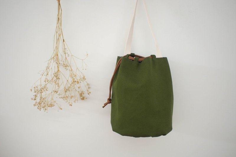 Candied fruit bunch bag / bucket bag / limited manual bag / olive green / pre-order