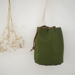 Fruit tray series beam mouth package / bucket bag / limited manual bag / olive green / stock supply