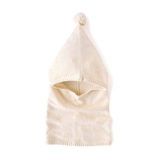 SISSO organic cotton] ball ball knit scarf cap