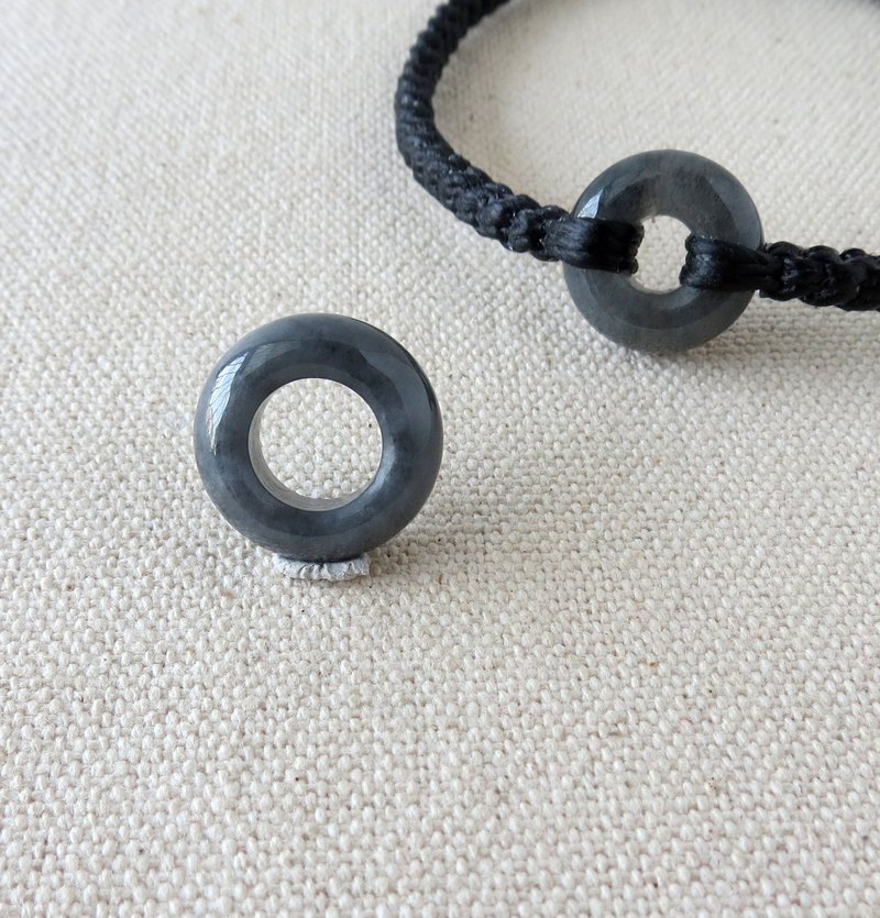 The birth year [Peace ‧ Ruyi] black chicken emerald silk wax bracelet NB03 [ten shares] anti-small