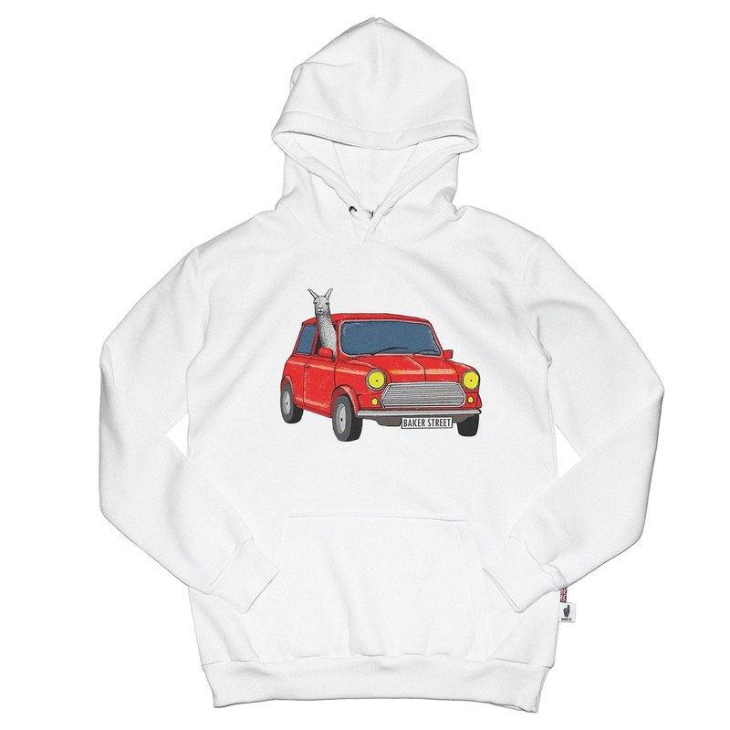 British Fashion Brand -Baker Street- Driving Alpaca Printed Hoodie