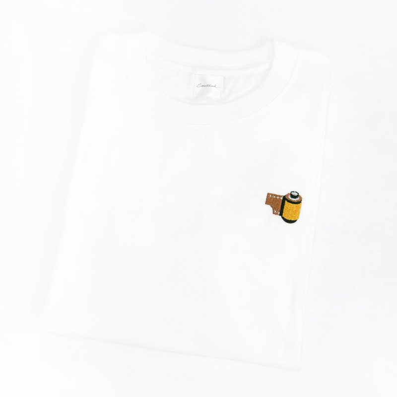 Cotton Tee with film embroidery-Somethink