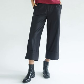 ROSENBURG CUFF PANTS - BLACK