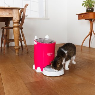 Japan Lusmo Pet Timed Automatic Feeder - Pink
