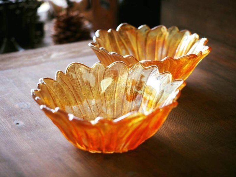 American antique carnival glass bowl / ice cream bowl / fruit salad bowl JS