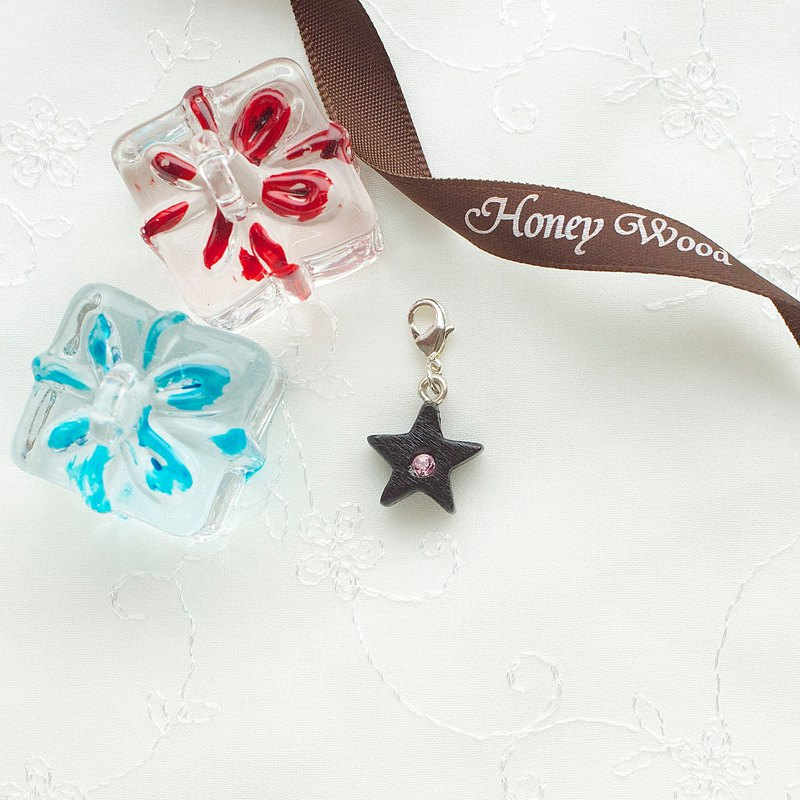 Star wooden charm