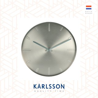 Karlsson, Wall clock Belt satin nickel, Design by Boxtel Buijs