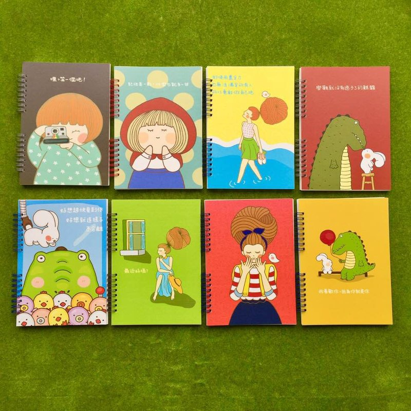 Illustration handmade notebook N0016