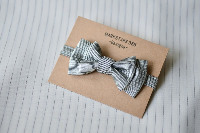 Metal stripes - bow tie tweeted
