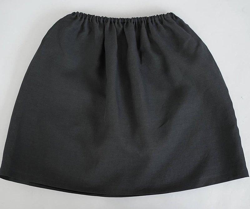 瓦夫-馬薩亞麻亞麻襯裙橡膠可調溫柔的內裙內衣內衣/黑色p002a-bck1