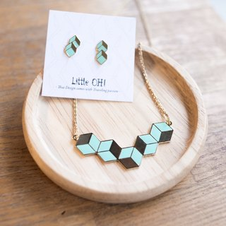 Geometry Gems Handmade Necklace